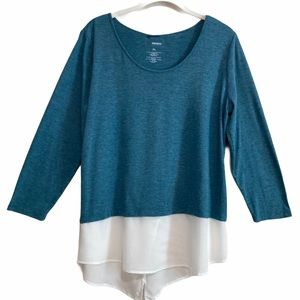 2/$20 Sonoma 2-in-1 Knit Tunic Top Sz Lg